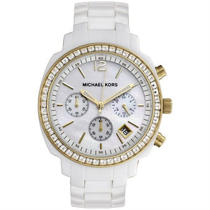 Michael Kors White Acrylic Women's Watch MK5187