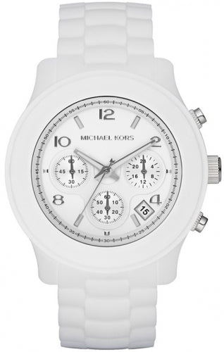 Michael Kors White Silicone Chronograph Women's Watch MK5292
