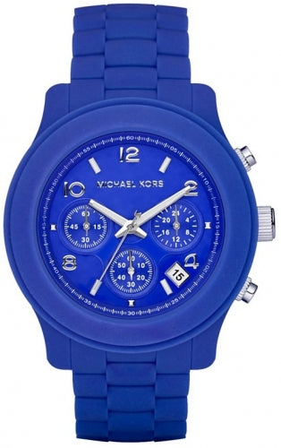 Michael Kors Blue Silicone Chronograph Women's Watch MK5293