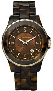 Michael Kors Brown Tortoise Shell Acetate Women's Watch MK5298