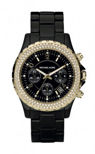 Michael Kors Black Dial Chronograph Women's Watch MK5301