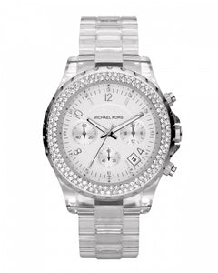 Michael Kors Crystal Accent Clear Acetate Women's Watch MK5337
