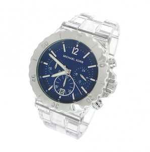 Michael Kors Blue Dial Clear Plastic Men's Watch MK5409