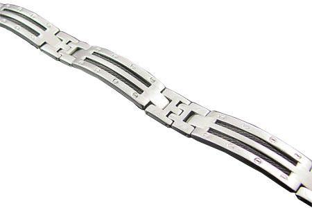 Mens Stainless Steel Bracelet With Wires