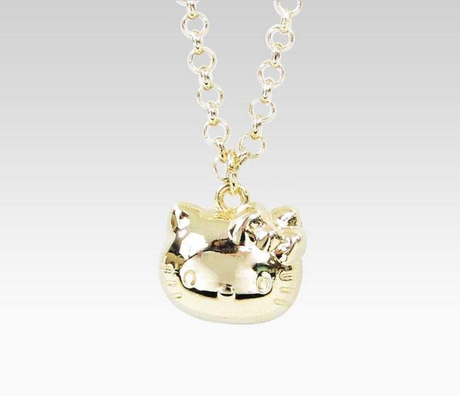 Hello Kitty 3D Pendant Necklace Red Ribbon
