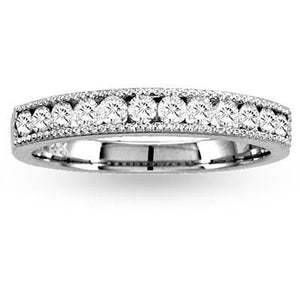 Diamonds Ring 14k Gold 7 Stone Wedding Band