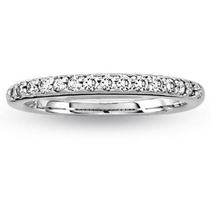 Two Row Channel Set Wedding or Anniversary Band