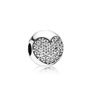 Heart Pave Silver