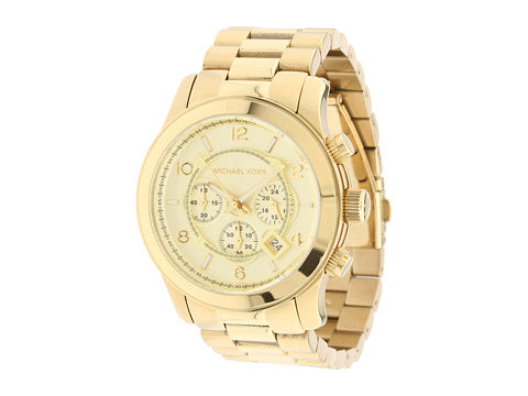 Michael Kors Runway Golden Oversized Women's Watch MK8077
