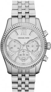 Michael Kors Mid-Size Silver Color Stainless Steel Lexington Chronograph Women's Watch MK5555