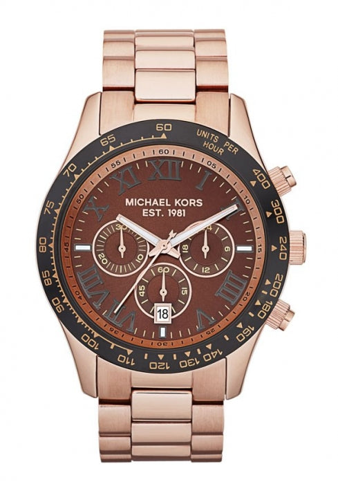 Michael Kors Goldtone Chronograph Quartz Unisex Watch MK8247