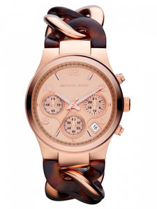 Michael Kors Chain Bracelet Rose Gold Tortoise Women's Watch MK4269