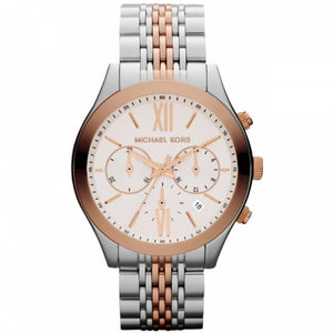 Michael Kors Brookton Chronograph Rosegold Silver Women's Watch MK5763