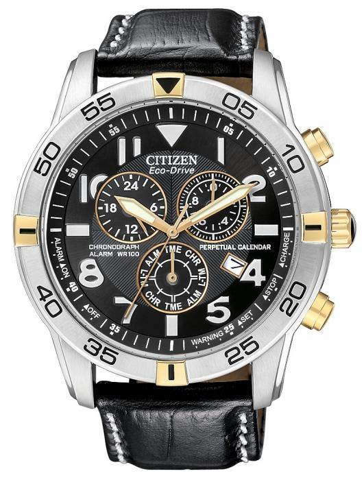 Citizen Men's BL5476-00E Eco-Drive Two Tone Perpetual Calendar Chronograph Watch
