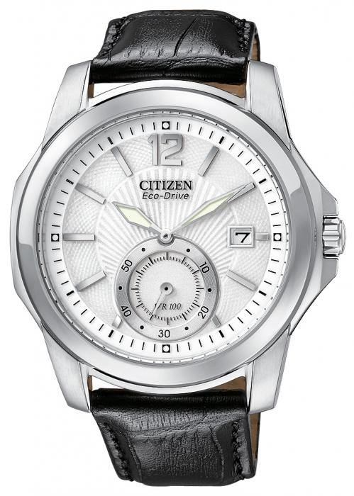 Citizen Men's Strap BV1090-06A Black Leather Watch