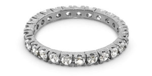 RING 925 STACKABLE W CZ PAVE ALL AROUND