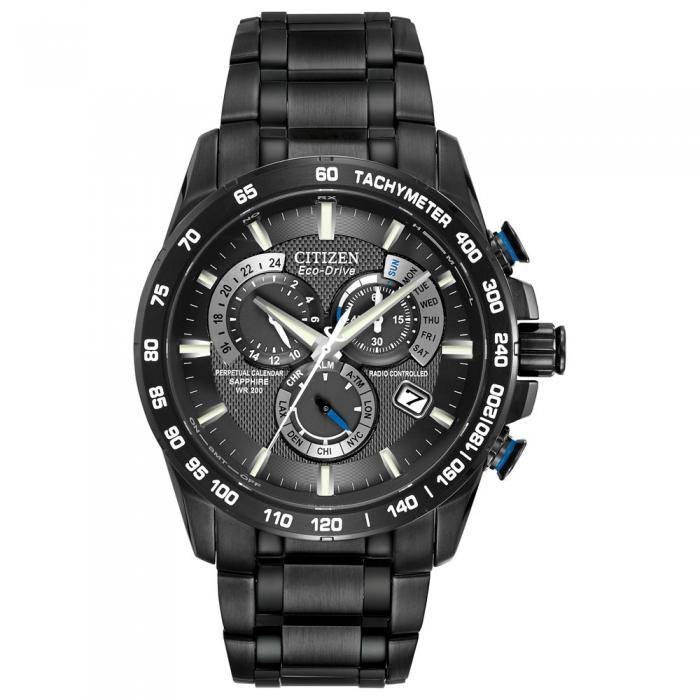 Citizen Men's AT4007-54E Black Perpetual Chrono A-T Watch