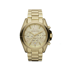 Michael Kors Mid-Size Bradshaw Chronograph Golden MK5605 Women's Watch