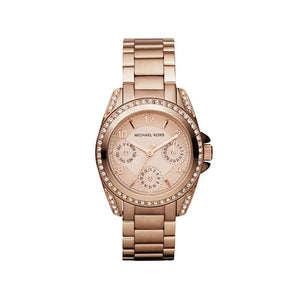 Michael Kors Mini-Size Blair Multi-Function Glitz Rose Golden MK5613 Women's Watch