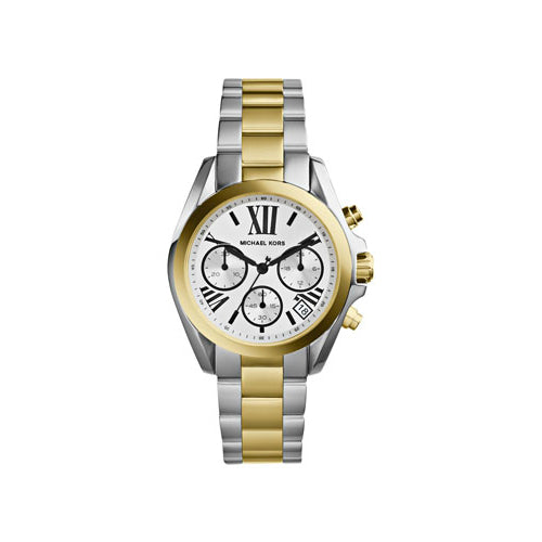 Michael Kors Mini Two-Tone Stainless Steel Bradshaw Chronograph MK5912 Woman's Watch