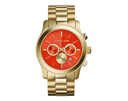 Michael Kors Oversize Golden Stainless Steel Runway Chronograph MK5930 Woman's Watch