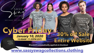 Cyber Friday Sale - 30% off Entire Website