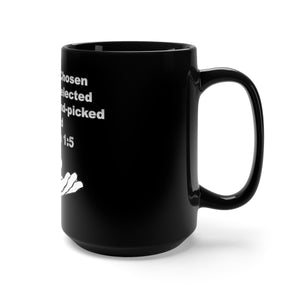 Purposely Chose Jeremiah 1:5 Black Mug 15oz