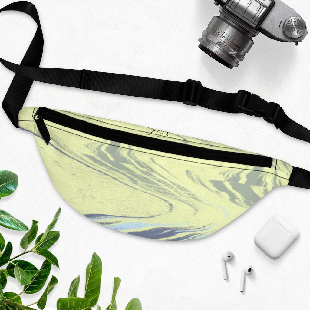 Yellow and Blue Marble Design Fanny Pack