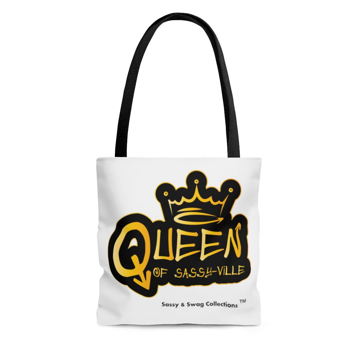 Sassy & Swag Collections - Queen of Sassy-Ville AOP Tote Bag