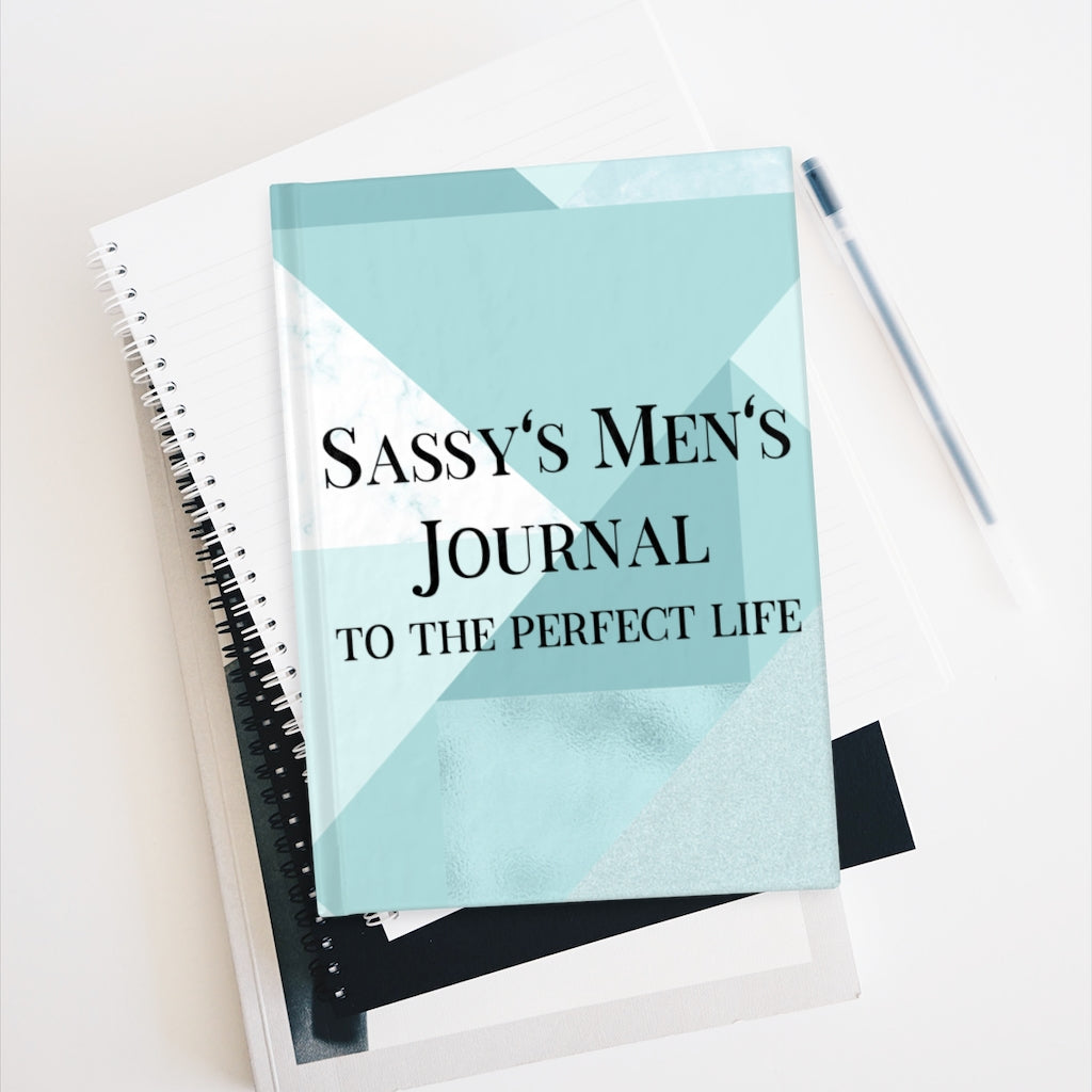 Sassy's Men's Journal - Ruled Line - Blue Squared
