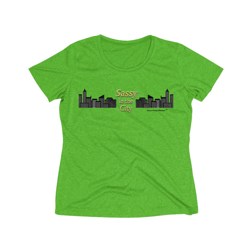 Sassy & Swag Collections - Sassy in the City Women's Heather Wicking Tee