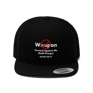 No Weapon Formed Isaiah 54:17 Unisex Flat Bill Hat