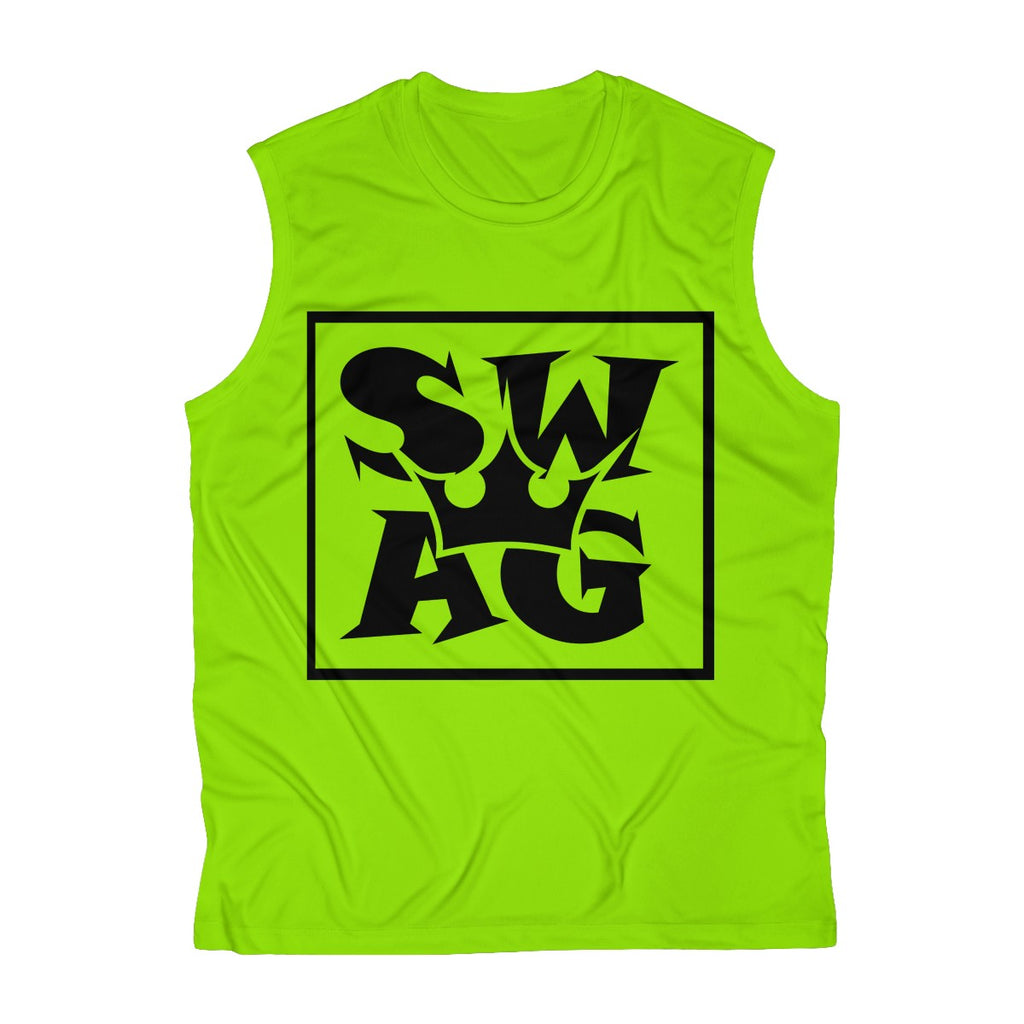 Sassy & Swag Collections - Swag King Men's Sleeveless Performance Tee
