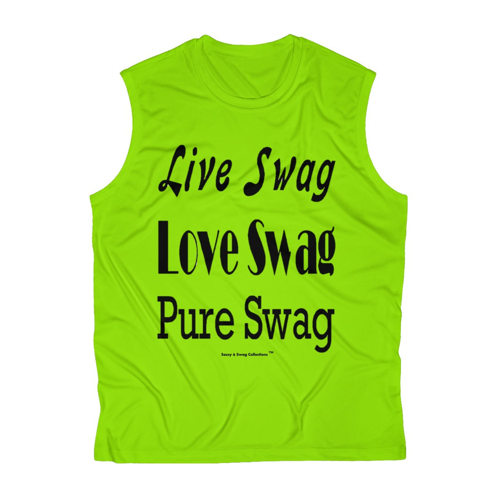 Sassy & Swag Collections - Live Swag Love Swag Pure Swag Men's Sleeveless Performance Tee