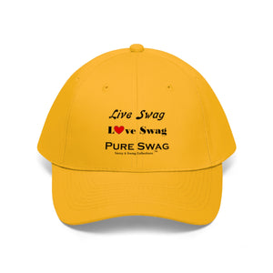 Sassy & Swag Collections - Live Swag Love Swag Pure Swag Men's Twill Hat