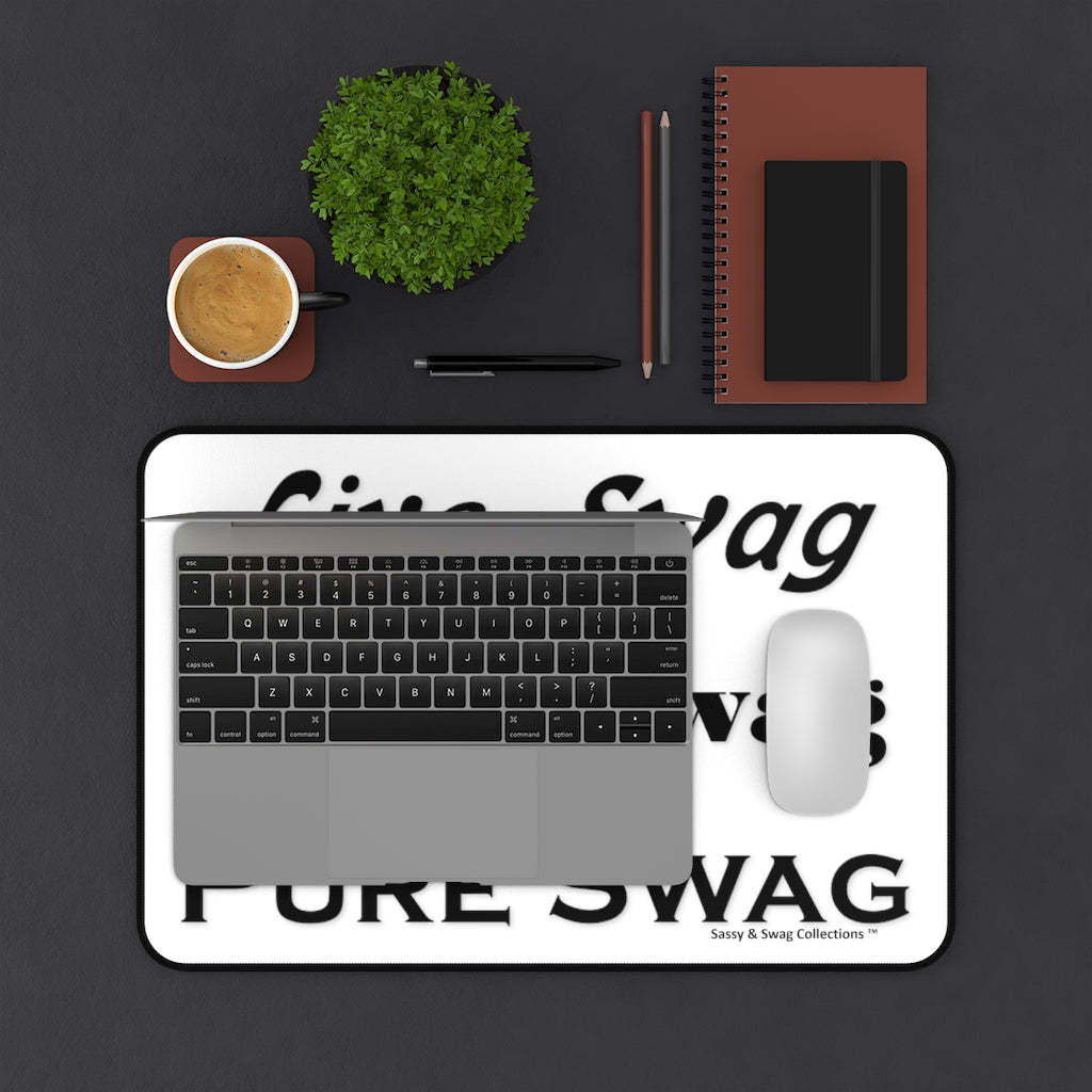Live Swag Love Swag Pure Swag Desk Mat
