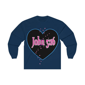 Sassy & Swag Collections - John 3:16 Unisex Long Sleeve Tee