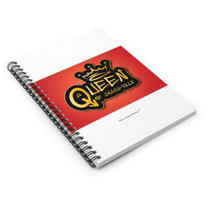 Sassy & Swag Collections - Queen of Sassy-ville Spiral Notebook - Ruled Line