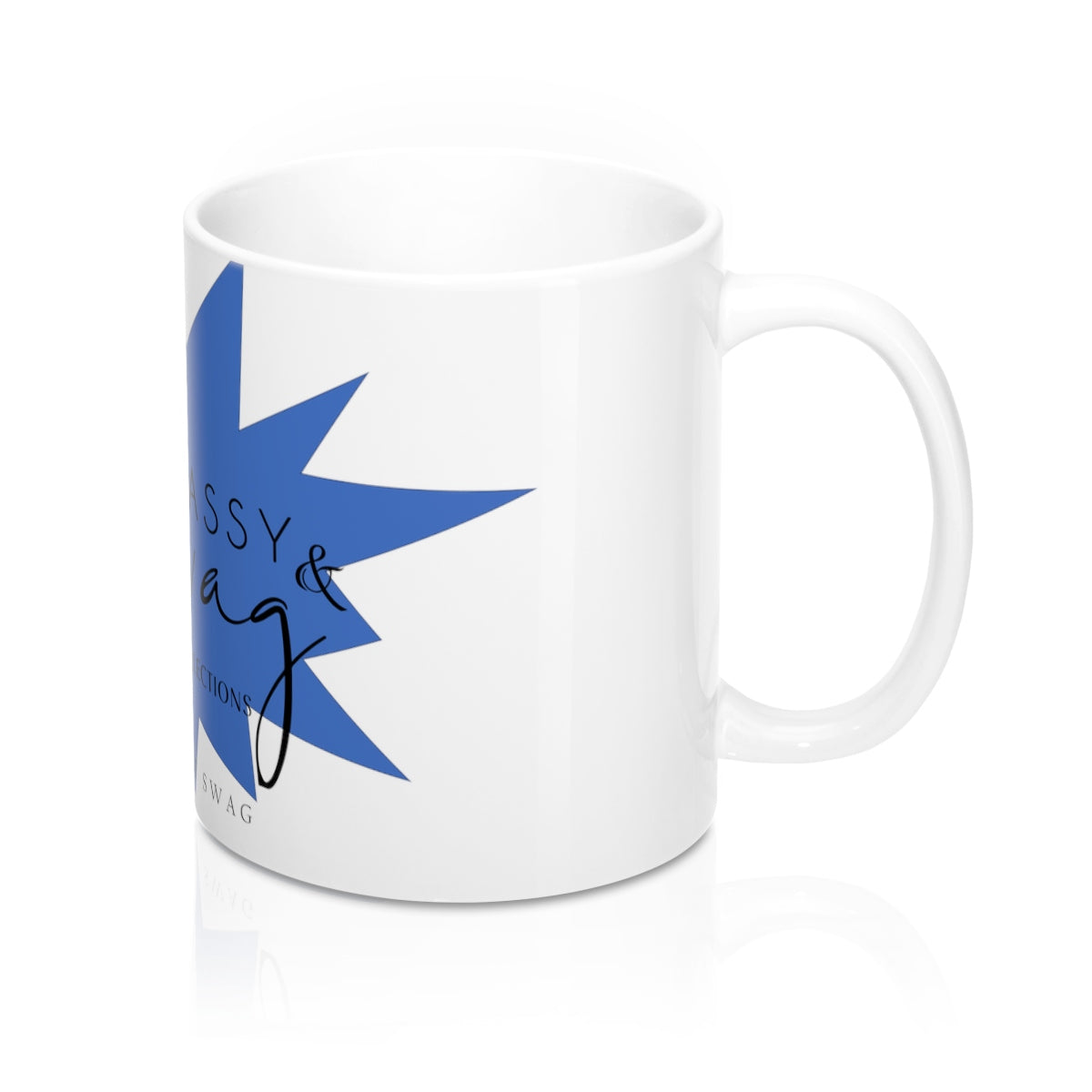 Sassy & Swag Collections - Blue, Mug 11oz