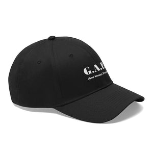 G.A.P. (God Always Provide) Unisex Twill Hat