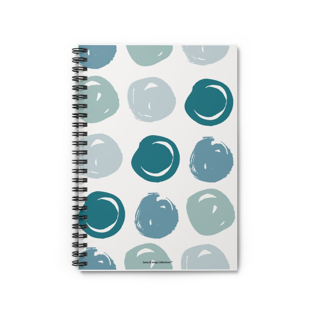 Sassy & Swag Collections Spiral Notebook - Ruled Line - Bluish