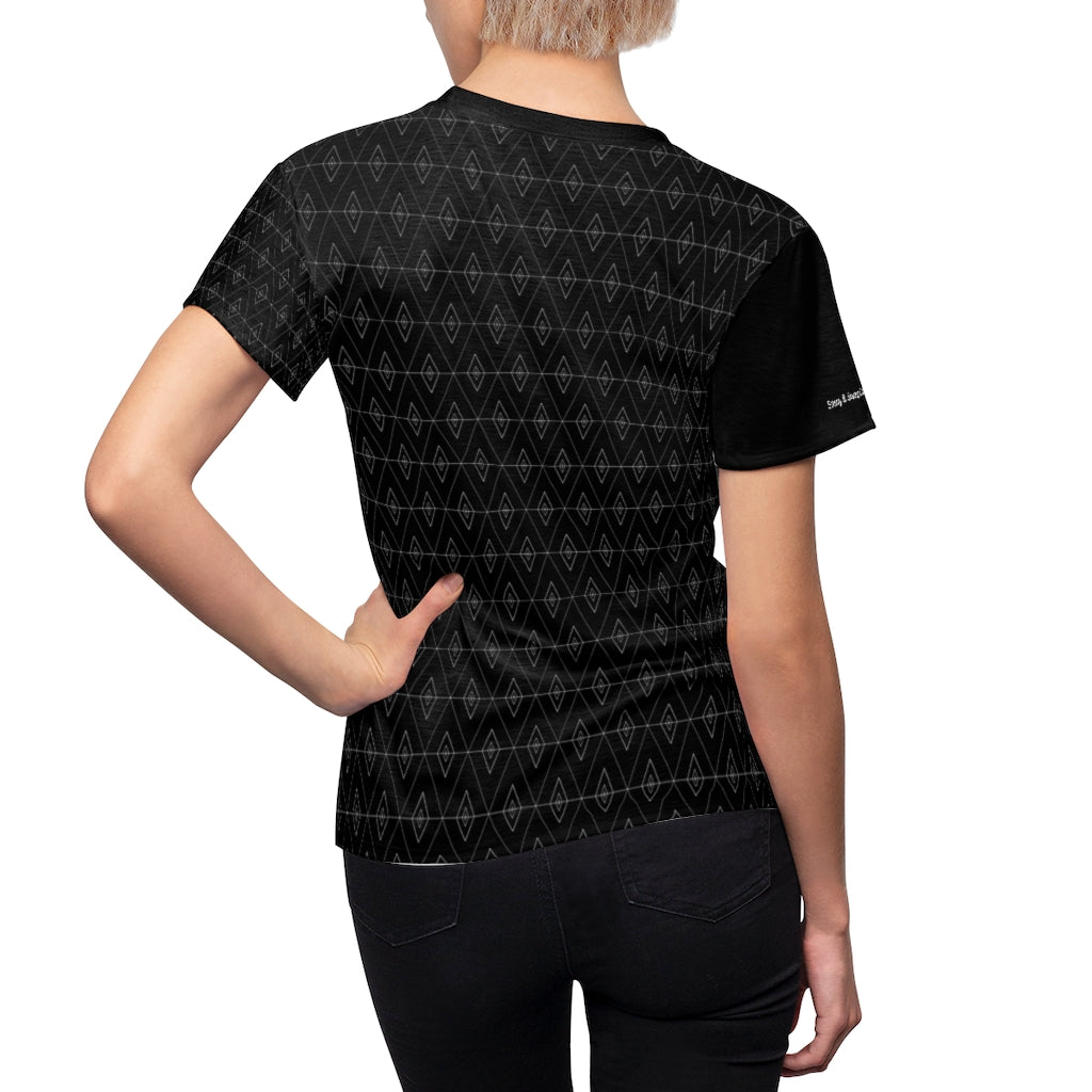 Sassy & Swag Collections Women's Tee - black diamonds
