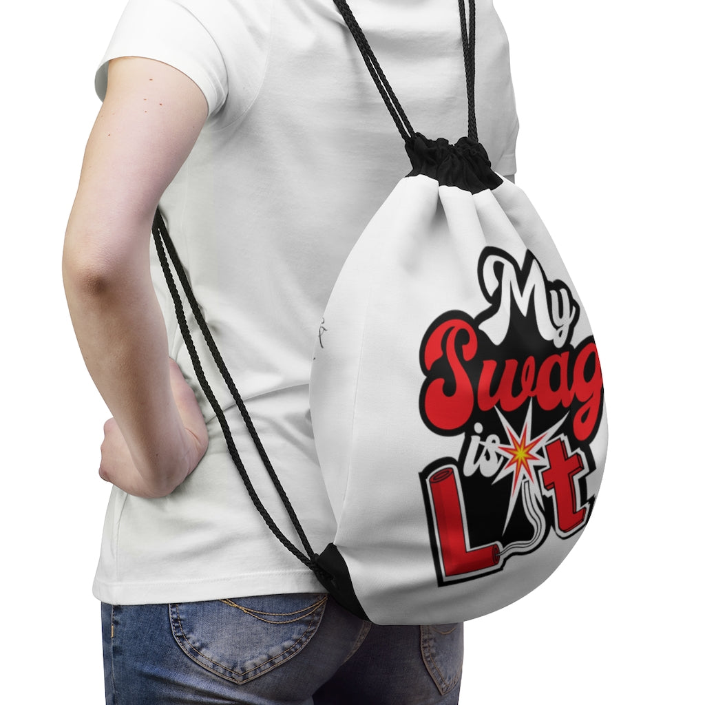 My Swag Is Lit Drawstring Bag