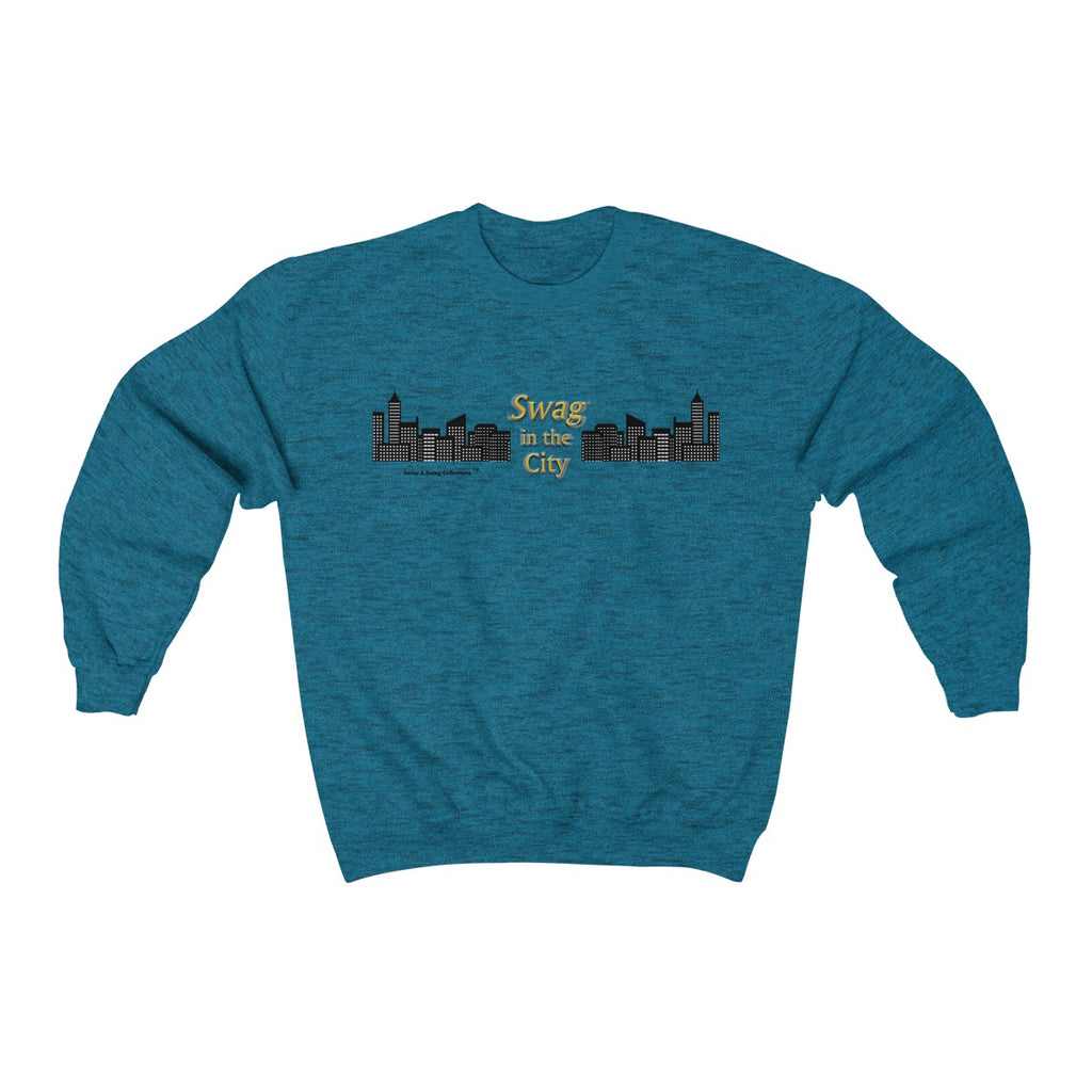 Sassy & Swag Collections - Swag in the City Men's Heavy Blend™ Crewneck Sweatshirt