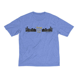 Sassy & Swag Collections - Swag in the City Men's Heather Dri-Fit Tee