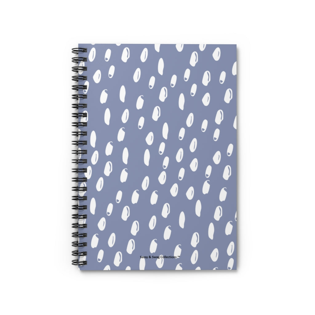 Sky Blue Spiral Notebook - Ruled Line