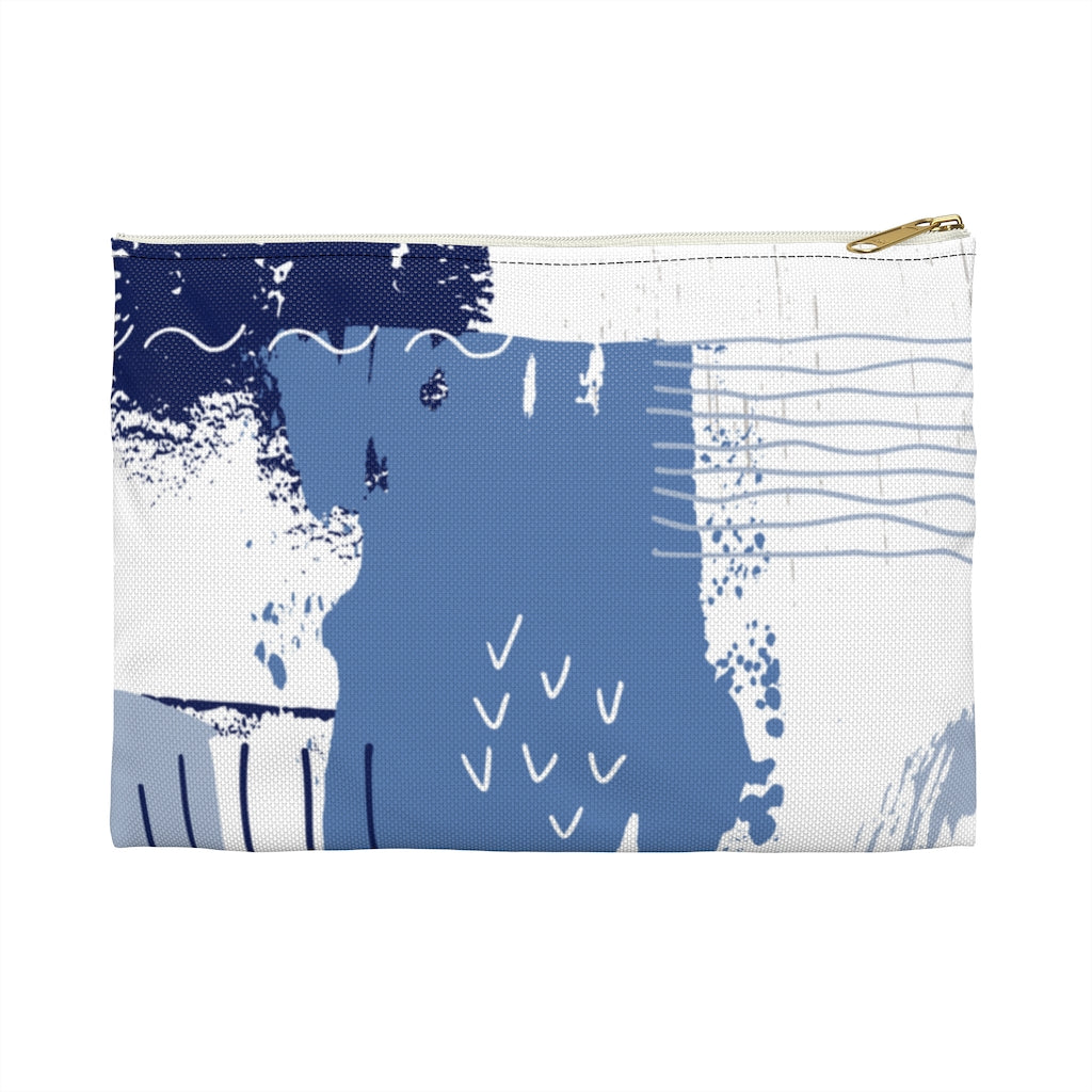 Blue Abstract Accessory Pouch