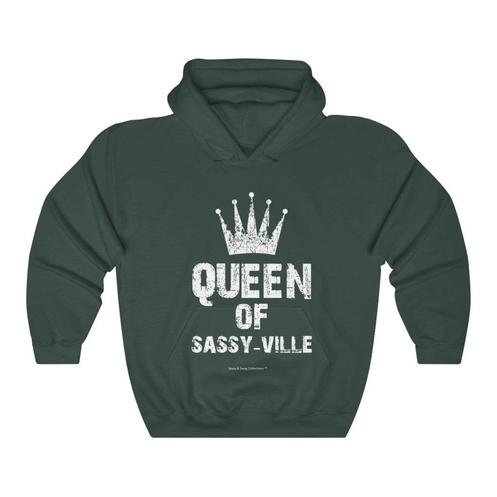Sassy & Swag Collections - Queen of Sassy-ville Heavy Blend™ Hooded Sweatshirt