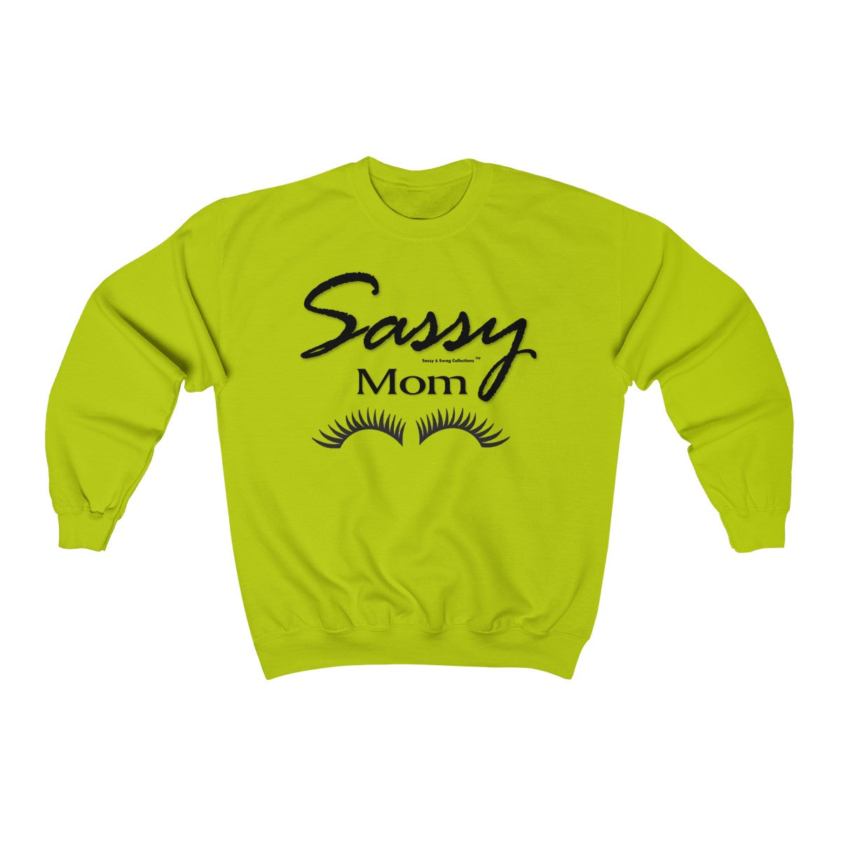 Sassy & Swag Collections - Sassy Mom with Eye Lashes Heavy Blend™ Crewneck Sweatshirt