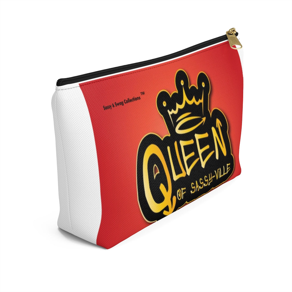 Sassy & Swag Collections - Queen of Sassy-ville Accessory Pouch w T-bottom